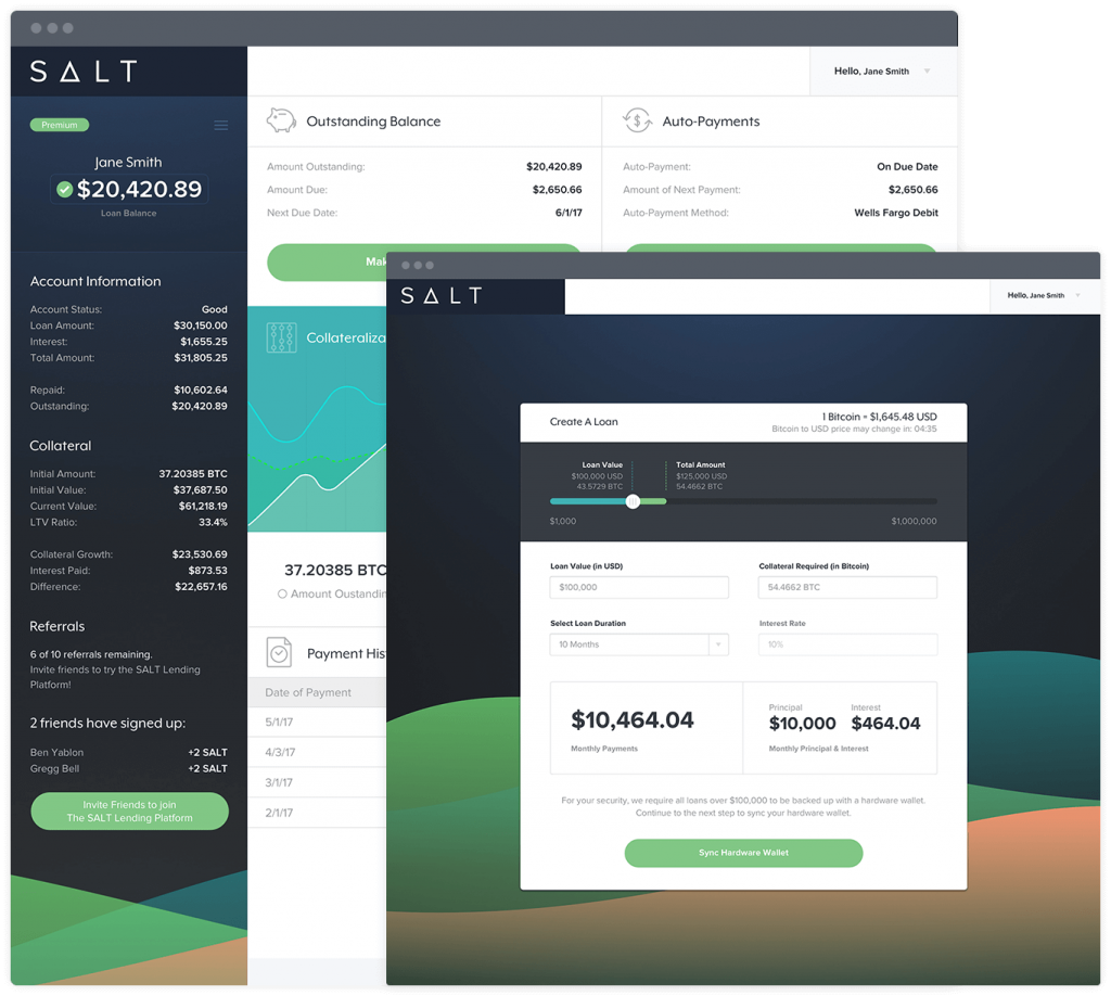 SALT Enables Crypto Loan Feature to Its Users Now